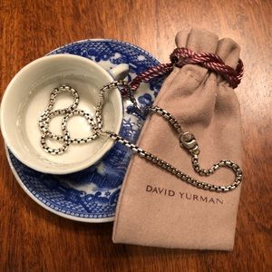 David Yurman Small Box Chain in Sterling Silver